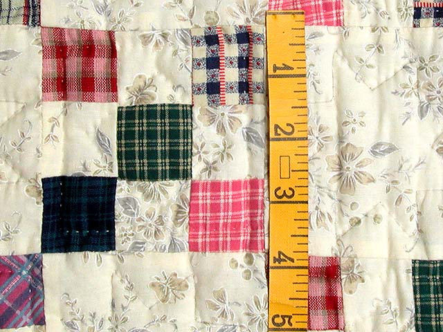 Plaid Multicolor Nine Patch Crib Quilt Photo 4