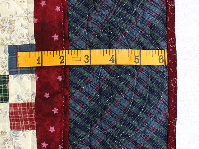 Plaid Multicolor Nine Patch Crib Quilt Photo 5