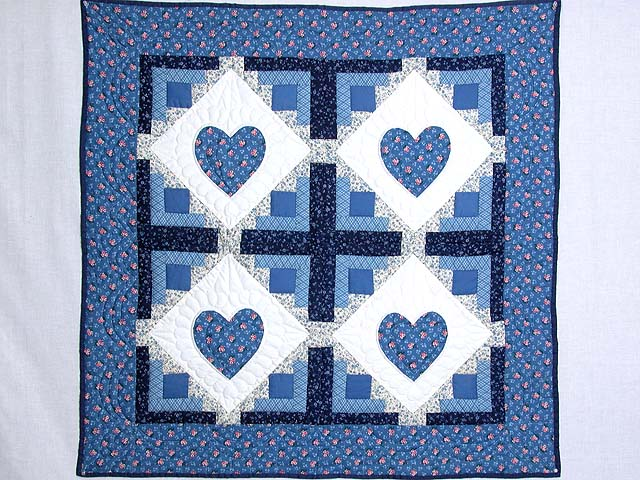 Blue Hearts in the Cabin Wall Hanging Photo 1
