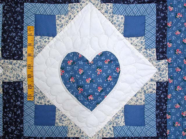 Blue Hearts in the Cabin Wall Hanging Photo 3