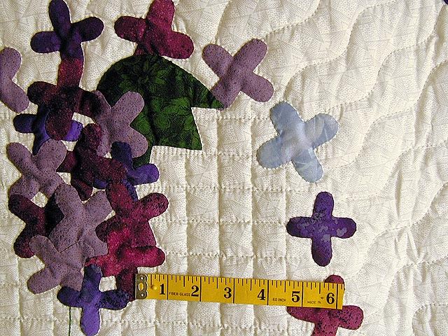 Purple and Navy Wisteria Applique Wall Hanging Photo 4