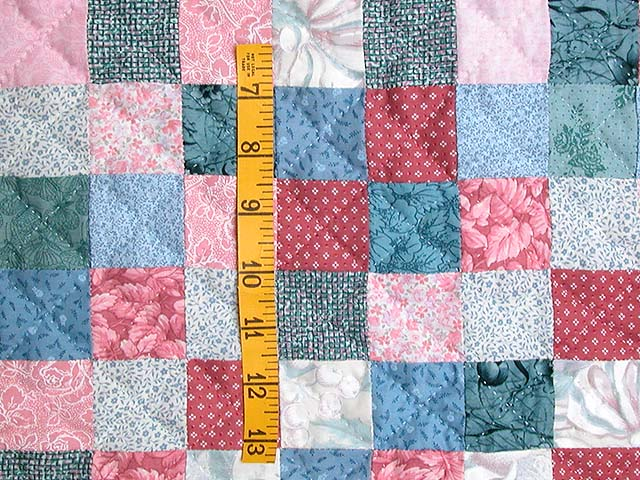 Cranberry Hit or Miss Throw Crib Quilt Photo 4