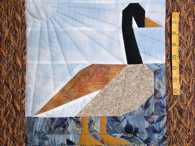 Patchwork Goose Wall Hanging Photo 3