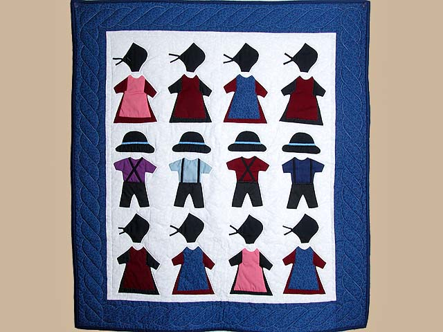 Amish Clothes Small Crib Quilt Photo 1