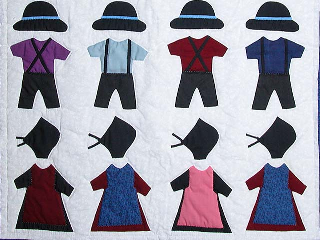 Amish Clothes Small Crib Quilt Photo 3