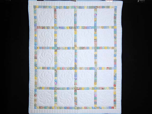 Pastel Postage Stamp Squares Crib Quilt Photo 1