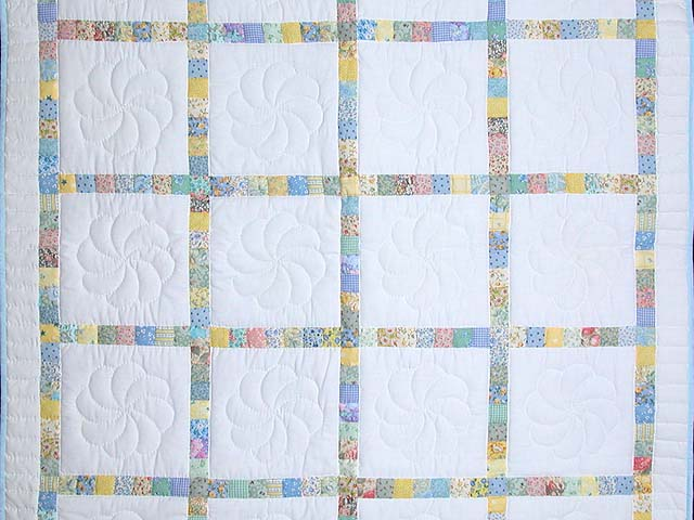 Pastel Postage Stamp Squares Crib Quilt Photo 2