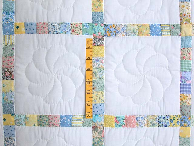 Pastel Postage Stamp Squares Crib Quilt Photo 3