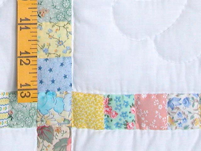 Pastel Postage Stamp Squares Crib Quilt Photo 4
