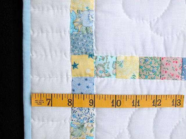 Pastel Postage Stamp Squares Crib Quilt Photo 5