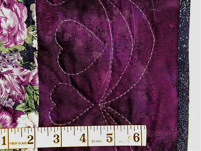 Purple and Plum Grape Basket Applique Wall Hanging Photo 5