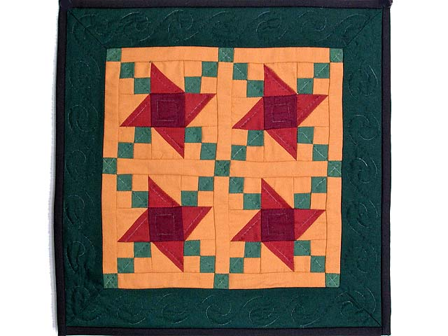 Mini Amish Friendship Star Quilt Photo 1