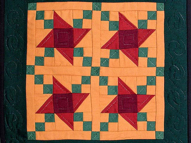 Mini Amish Friendship Star Quilt Photo 2