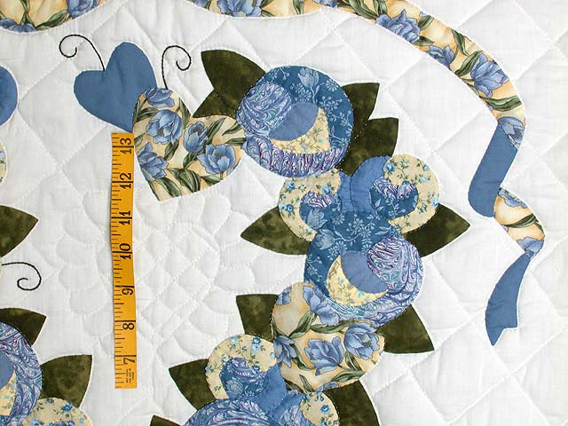 Blue and Yellow Country Love Applique Wall Hanging Photo 3
