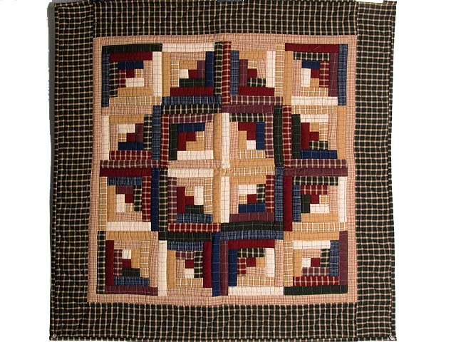 Flannel Plaids Log Cabin Wall Hanging Photo 1