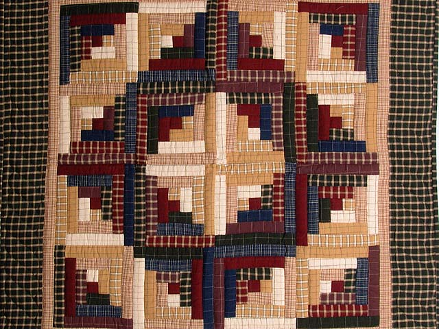 Flannel Plaids Log Cabin Wall Hanging Photo 2