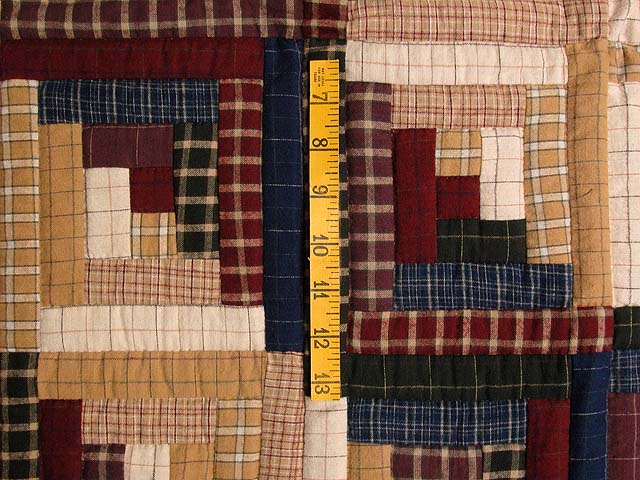 Flannel Plaids Log Cabin Wall Hanging Photo 3