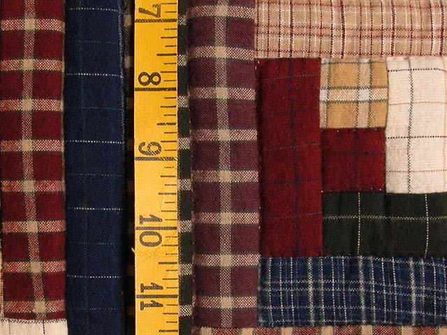 Flannel Plaids Log Cabin Wall Hanging Photo 4