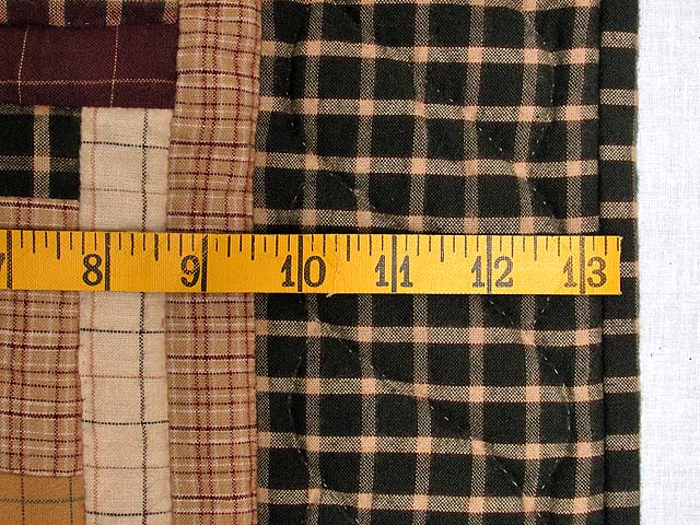 Flannel Plaids Log Cabin Wall Hanging Photo 5