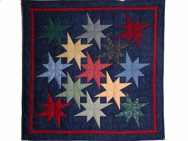 Navy Star Bright Wall Hanging Photo 1