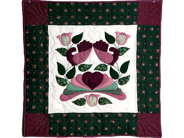 Burgundy and Green Country Bride Wall Hanging Photo 1