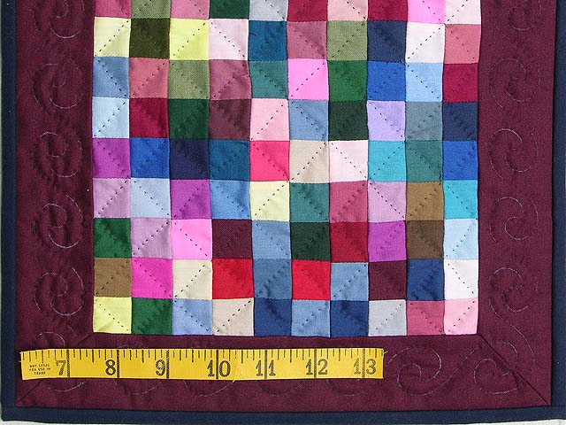 Mini Almost Amish Postage Stamp Quilt Photo 2