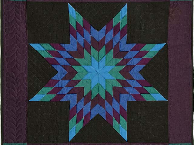 Amish Woolen Lone Star Wall Hanging Photo 2