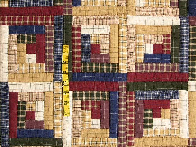 Flannel Plaid Log Cabin Wall Hanging Photo 3