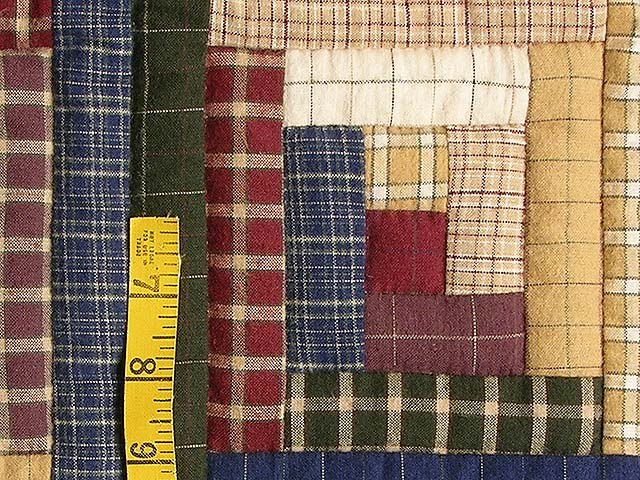 Flannel Plaid Log Cabin Wall Hanging Photo 4