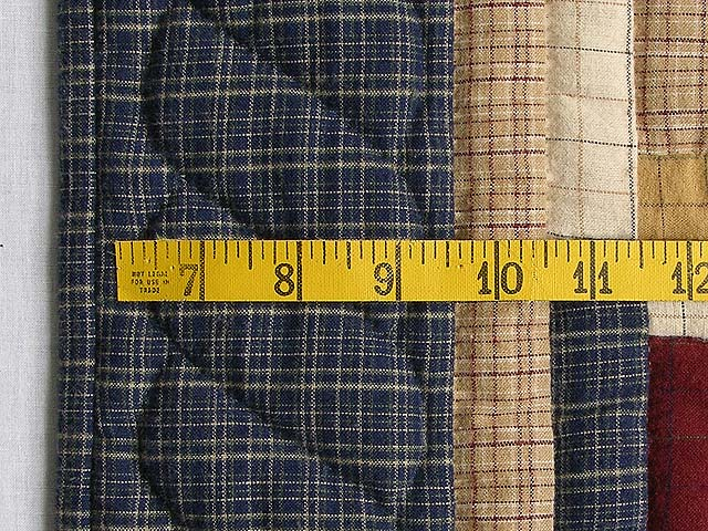 Flannel Plaid Log Cabin Wall Hanging Photo 5