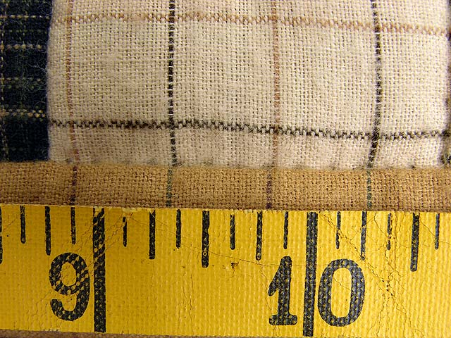 Flannel Plaid Log Cabin Wall Hanging Photo 6