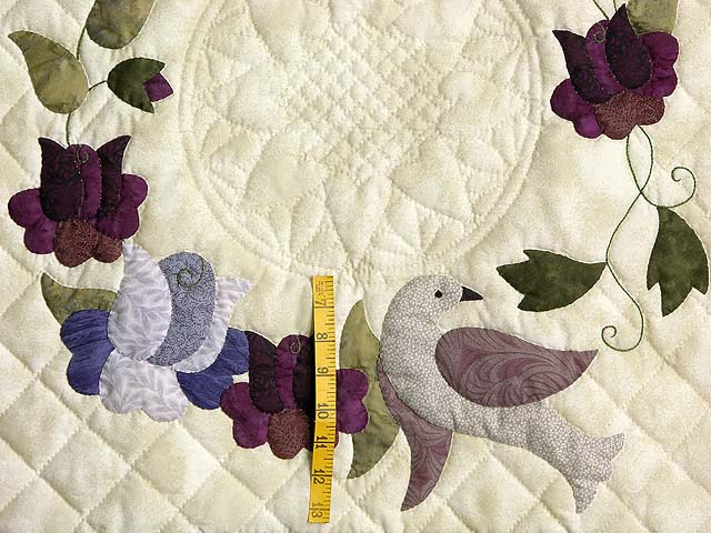 Plum Vines and Roses Applique Wall Hanging Photo 3