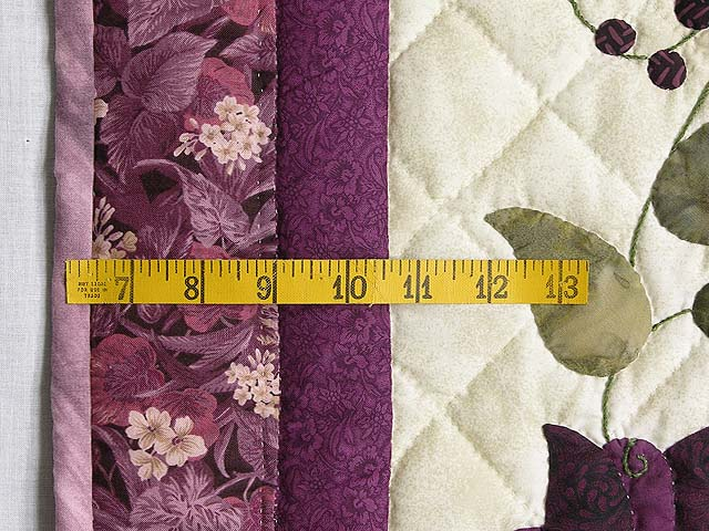 Plum Vines and Roses Applique Wall Hanging Photo 5