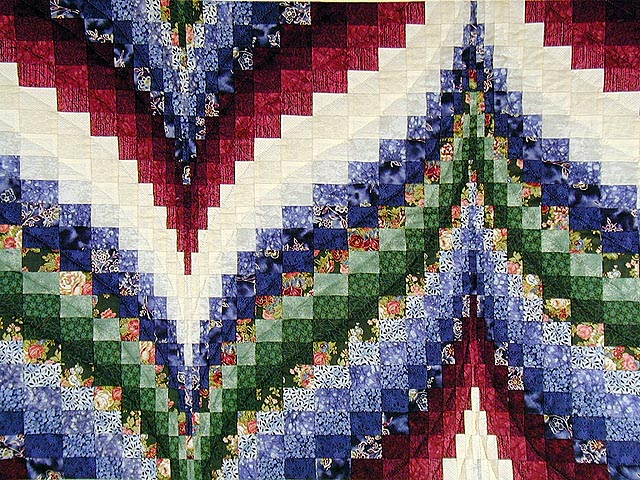 Navy Burgundy and Green Bargello Wall Hanging Photo 2