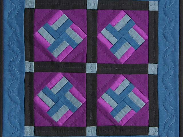 Miniature Amish Star Spin Quilt Photo 2