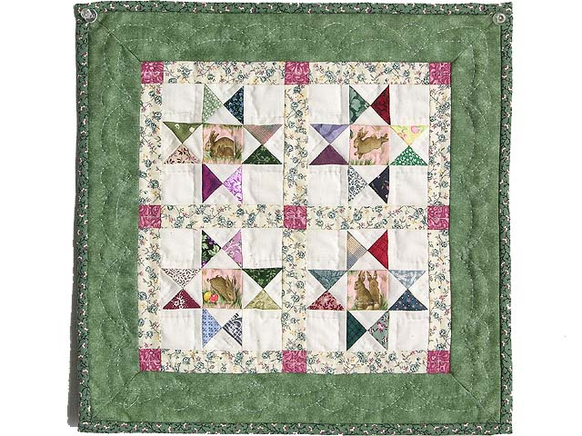 Miniature Green And Multi Ohio Stars Quilt Photo 1