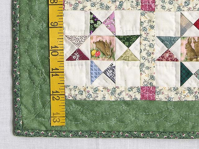 Miniature Green And Multi Ohio Stars Quilt Photo 3