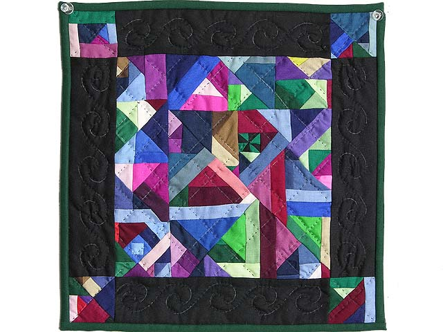 Minature Almost Amish Crazy Quilt Photo 1