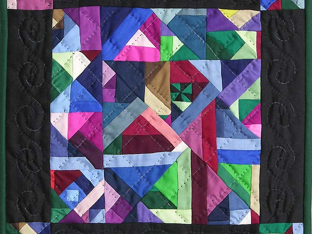 Minature Almost Amish Crazy Quilt Photo 2