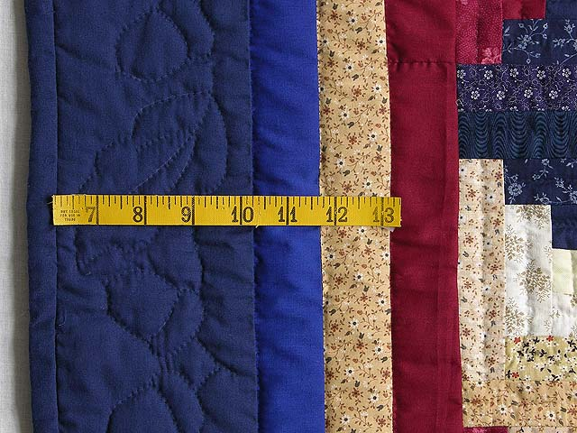 Navy and Burgundy Log Cabin Throw Photo 5
