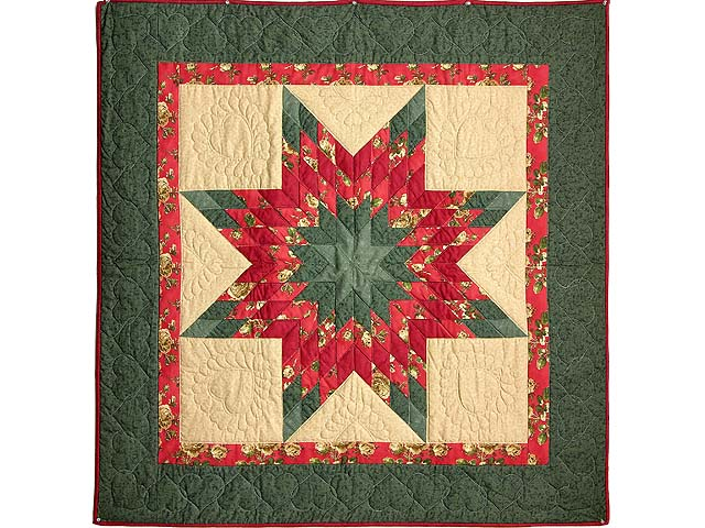 Sage Green and Red Lone Star Wall Hanging Photo 1