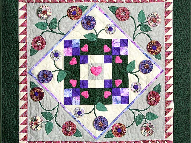 Green and Brick Patchwork Garden Wall Hanging Photo 2