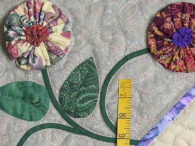 Green and Brick Patchwork Garden Wall Hanging Photo 4