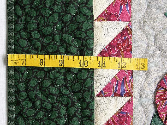 Green and Brick Patchwork Garden Wall Hanging Photo 6