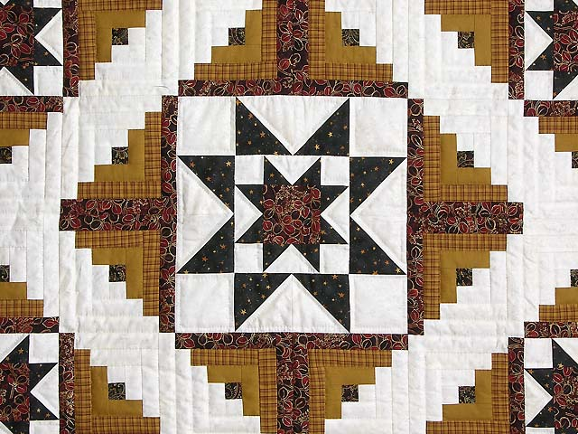 Burgundy and Gold Vermont Star Wall Hanging Photo 2