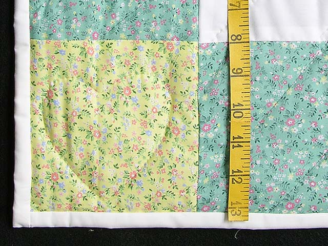 Pastel Green and Yellow Thomas Train Crib Quilt Photo 5
