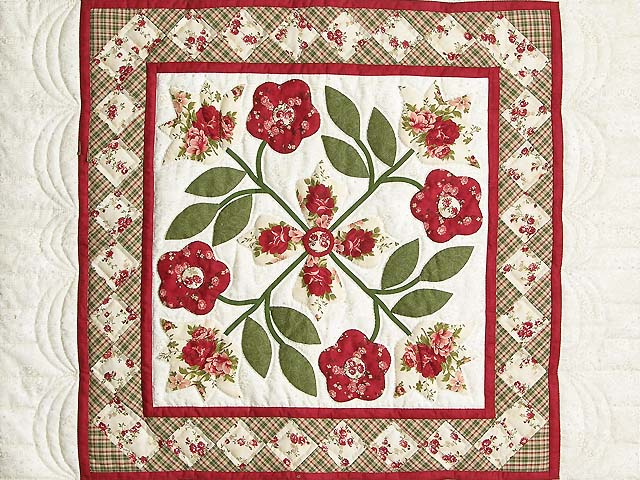 Brick and Sage Green Spring Flower Wall Hanging Photo 2