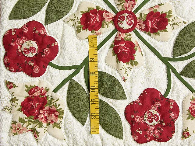 Brick and Sage Green Spring Flower Wall Hanging Photo 3