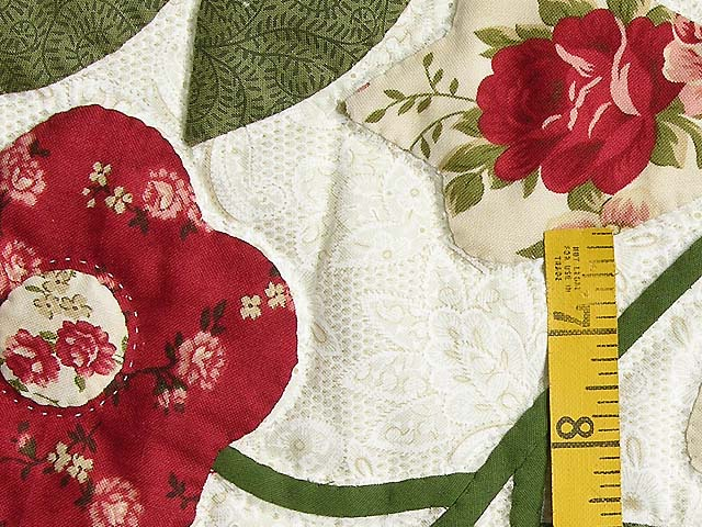 Brick and Sage Green Spring Flower Wall Hanging Photo 4