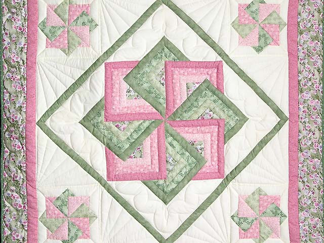 Pink and Green Star Spin Wall Hanging Photo 2